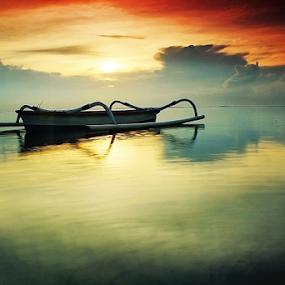 Morning Stillness by Kadek Jaya - Landscapes Sunsets & Sunrises ( calm, refelction, sunrise, beach, sun )