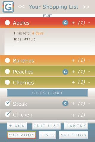 Amazing Grocery List - screenshot