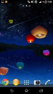 Flying Lanterns Live Wallpaper