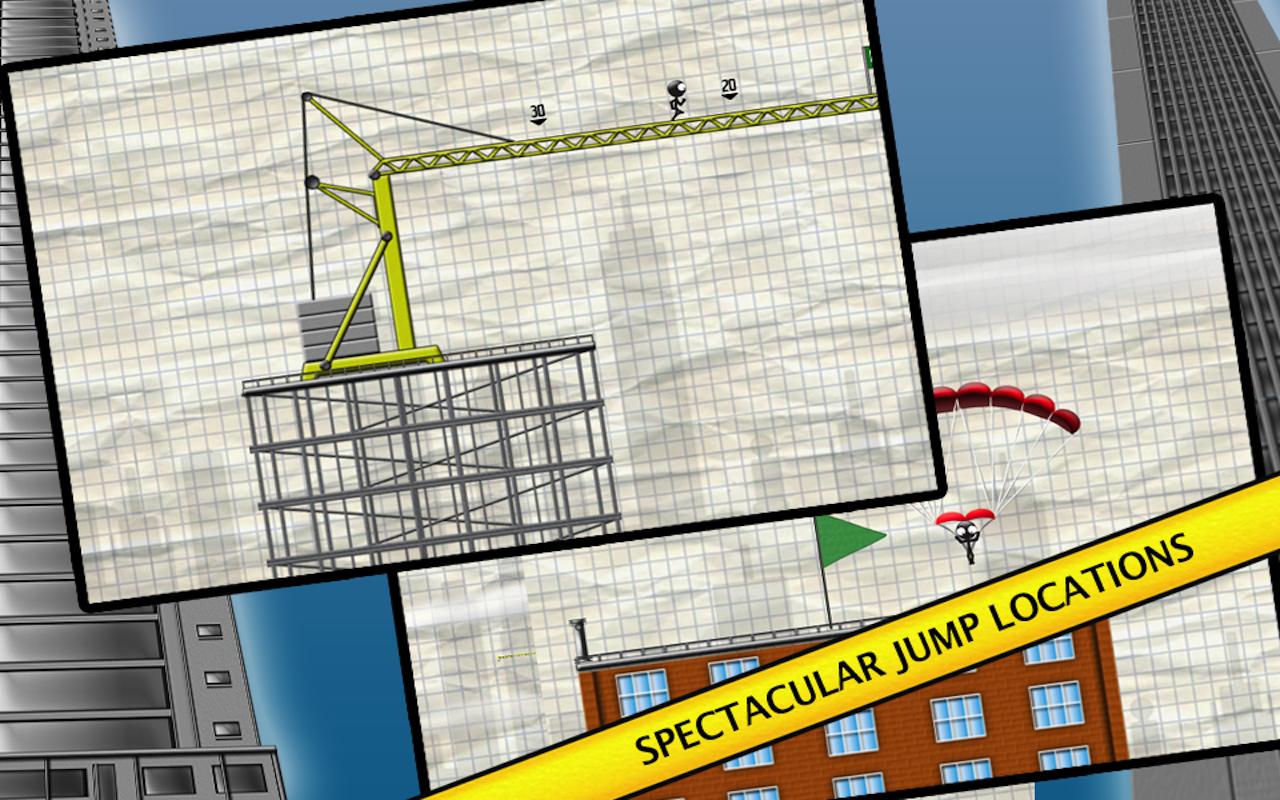 Stickman Base Jumper screenshot #12