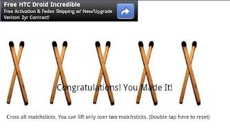 Screenshot of Cross Matchsticks