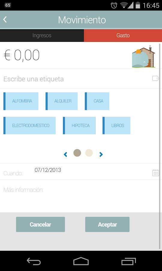 Whallet - Finanzas Personales: captura de pantalla