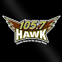 105.7 The Hawk logo