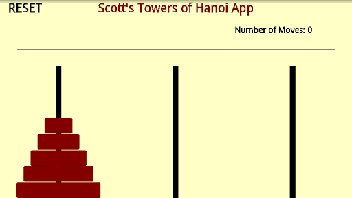 Scott's Towers of Hanoi App