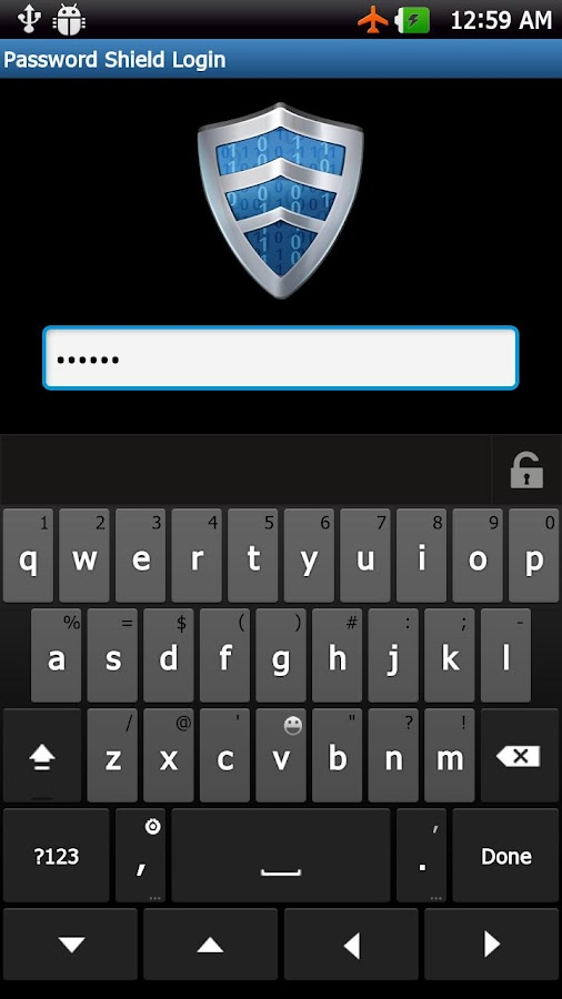 Password Shield - screenshot