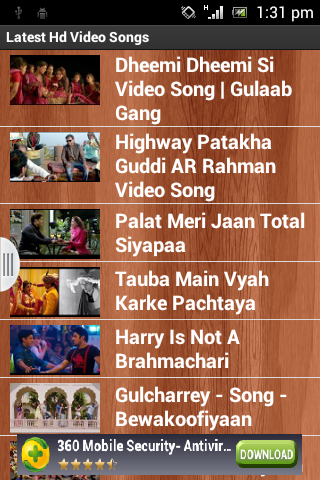 Latest Video HD Songs FREE