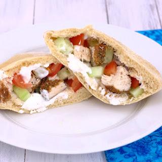 Mediterranean Chicken in Pitas