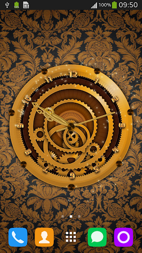Luxury Clock Live Wallpaper