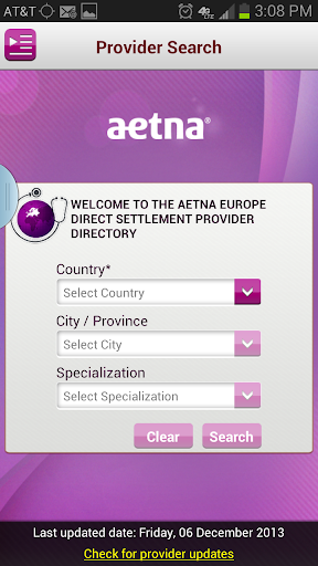 Aetna Europe Provider Tool