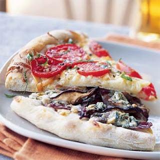 Shiitake Mushroom and Gorgonzola Pizza.