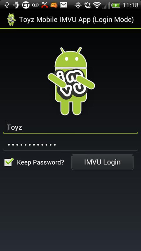 Toyz Mobile App for IMVU - screenshot