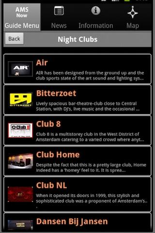 Amsterdam Club Guide- screenshot
