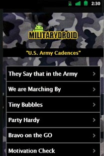 Army Cadences - screenshot thumbnail