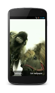 Horses lick screen Video LWP - screenshot thumbnail