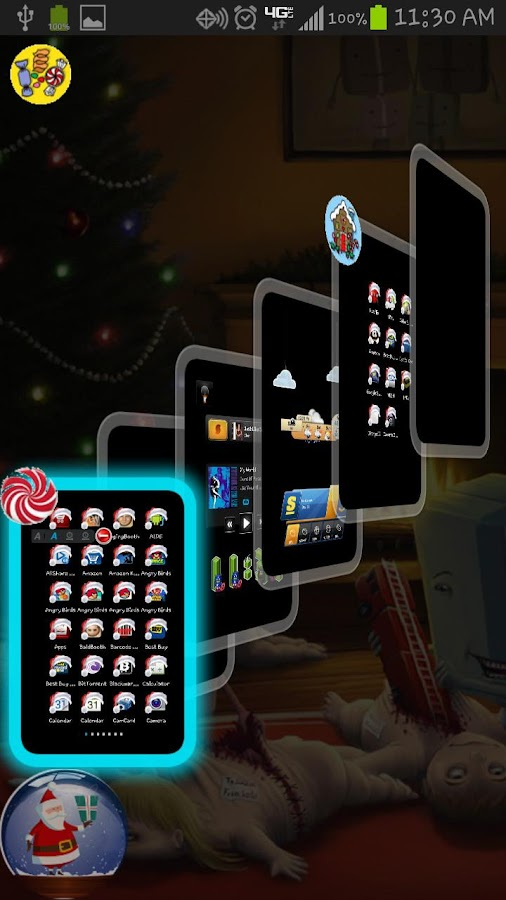 TSF Shell CrazyChristmas Theme - screenshot
