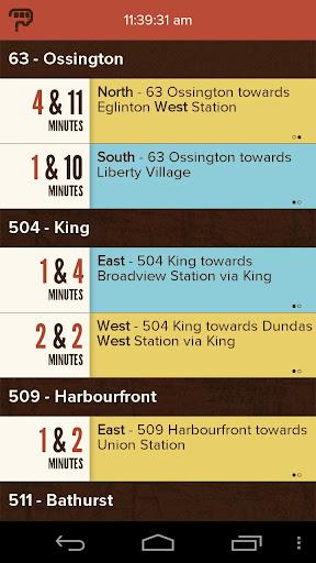 TTC Bus Schedule.