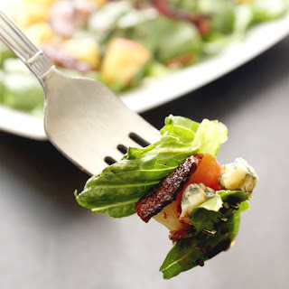 Bacon and Gorgonzola Salad with Reduced Cider Vinaigrette