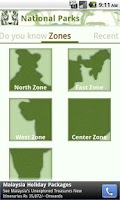 Screenshot of National Parks of India