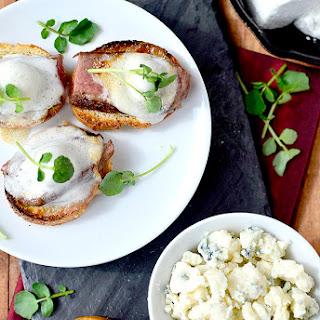 Steak Crostini with Bleu Cheese Marshmallows