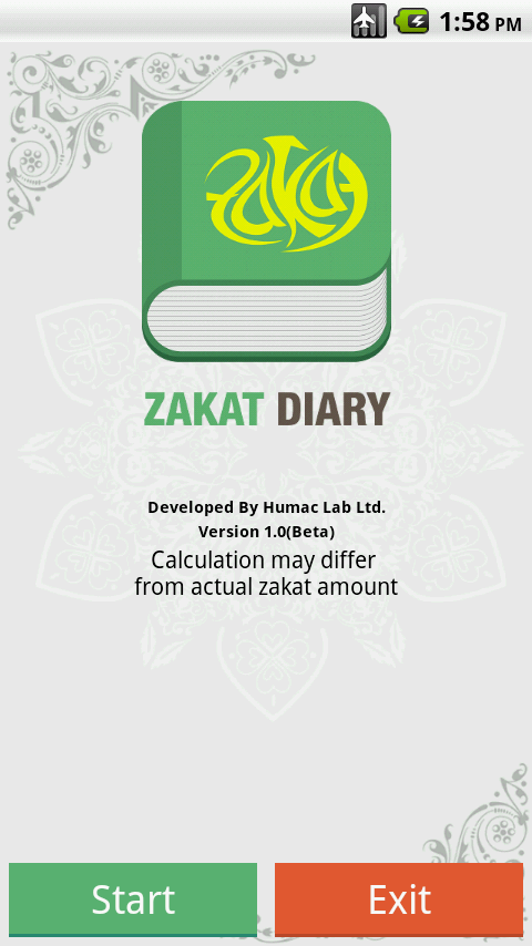 Zakat Diary- screenshot