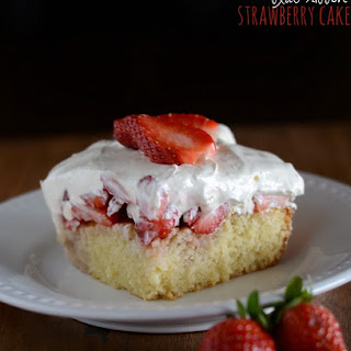 Blue Ribbon Strawberry Cake.