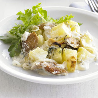 Smoked Mackerel & Potato Bake.