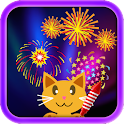 QCat -Toddler Fireworks (free) icon