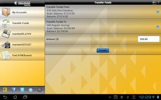 Screenshot of memberMobile for Tablet