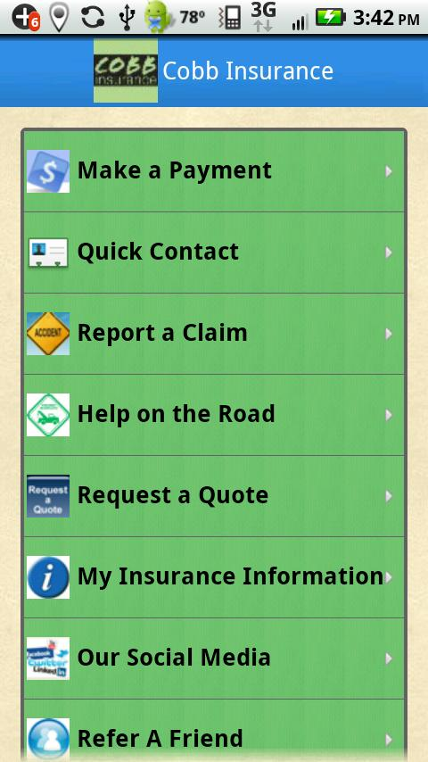 Cobb Insurance - screenshot