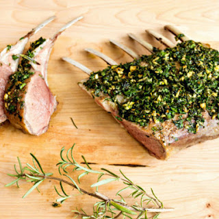 Herb Marinated Rack of Lamb.