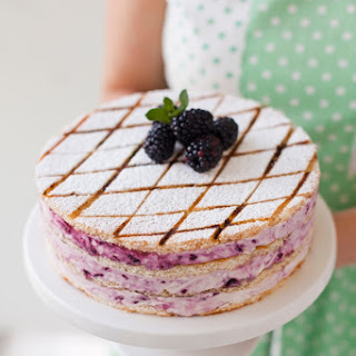 Blackberry Swirl Marshmallow Gateau Recipe