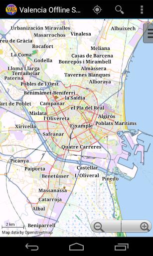 Valencia Offline City Map