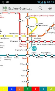 Explore Guangzhou metro map - screenshot thumbnail
