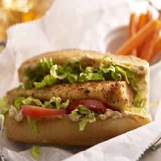 Tilapia Po' Boy Sandwich.