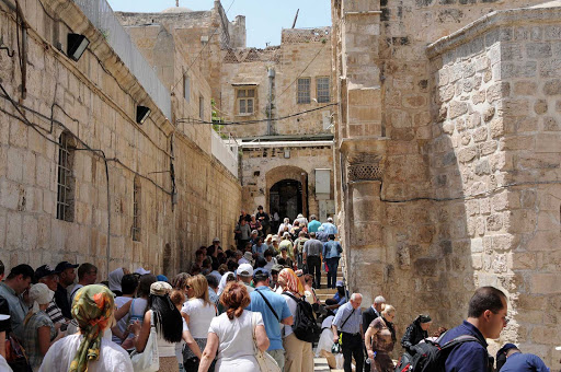 inside-Old-Jerusalem - Visitors swarm the holy sites in the Old City of Jerusalem.