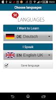 Screenshot of Learn German - 50 languages