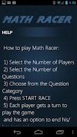 Screenshot of Math Racer