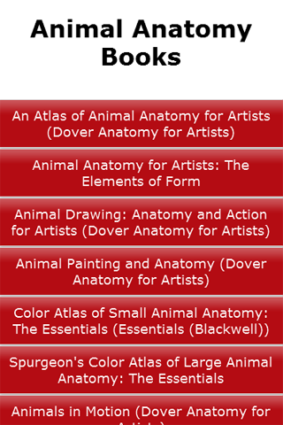 Animal Anatomy Books