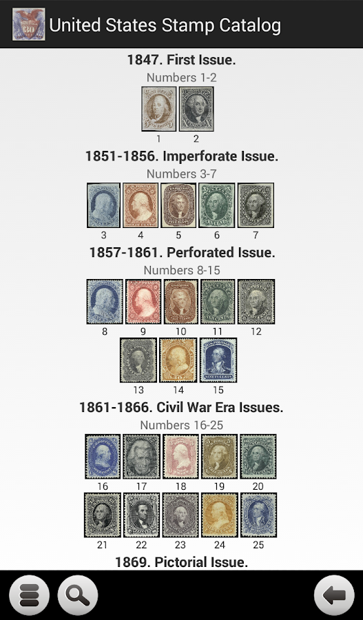 United States Stamp Catalog - screenshot