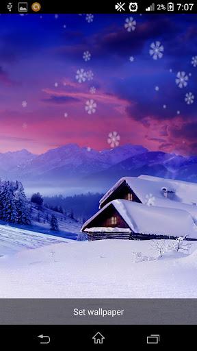 Falling Snow Live Wallpaper