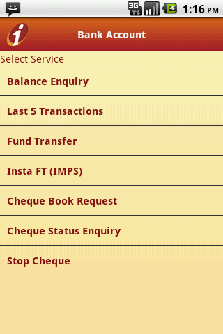 ICICI Mobile Banking - iMobile - screenshot