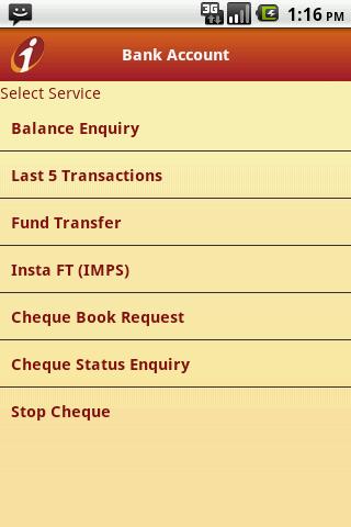 ICICI Mobile Banking - iMobile - screenshot