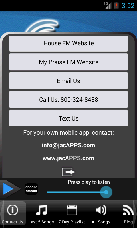 The House FM / Praise 88.7 - screenshot