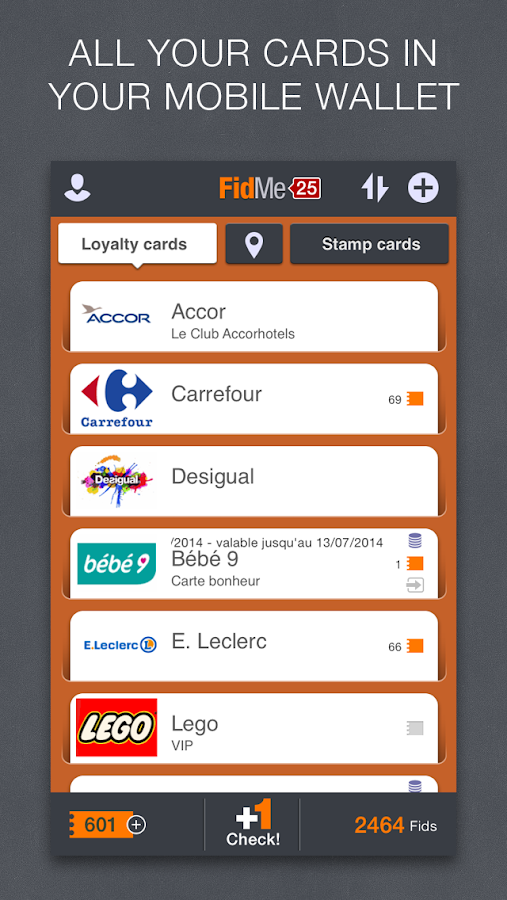 FidMe Loyalty Cards & Coupons - screenshot