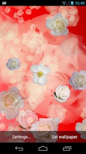 White Roses Live Wallpaper - screenshot thumbnail