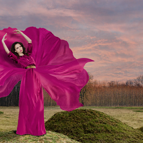 Orchid flower by Bogdan Negoita - Digital Art People ( orchid flower, portrait,  )