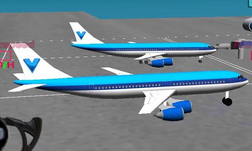 フライトシミュレータ飛行機の3D