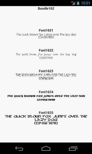 Fonts for FlipFont 162