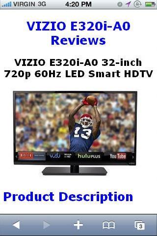 E320iA0 LED Smart HDTV Reviews