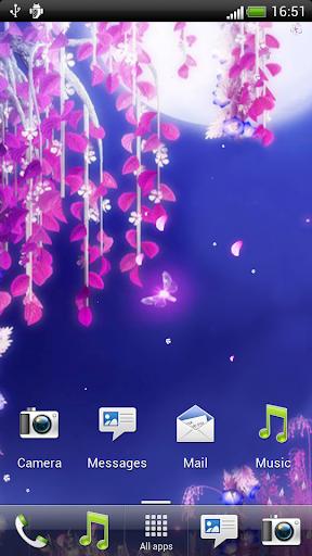 玩生活App|月下之櫻花動態壁紙免費|APP試玩
